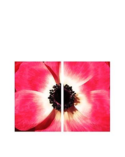 "Art Addiction Pink Flower Close Up Set of 2, Multi, 36"" x 24"""
