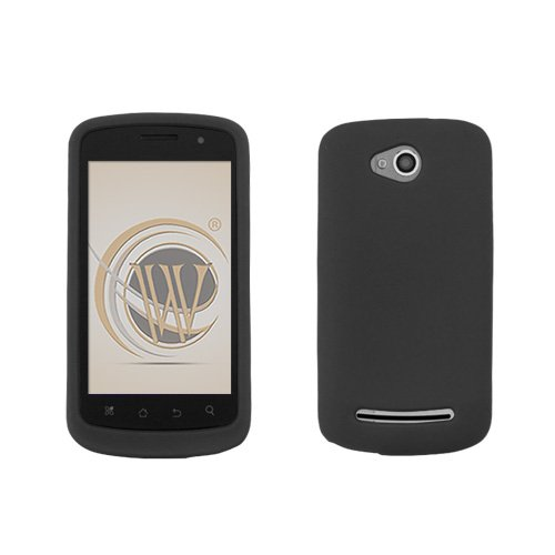 Black Silicone Skin Soft Phone Cover for Metro PCS CoolPad Quattro 4G