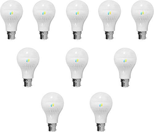 Finike 5W B22 LED Bulb (Yellow, Pack of 10)