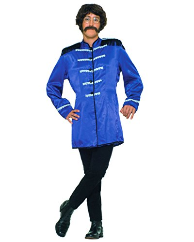 British Invasion 60s Band Costume Long Mens Jacket Theatrical Blue OR Red Color: Blue (British Invasion Jacket compare prices)