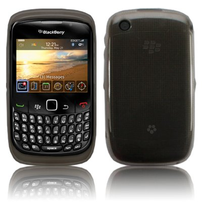 BLACKBERRY 9300 CURVE 3G BLACK HYDRO GEL SKIN SHELL CASE COVER & PACK OF 6