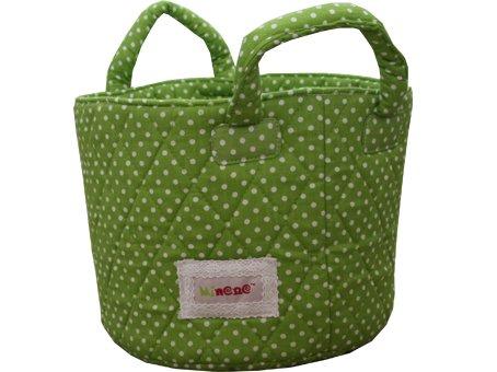 Minene Nursery Storage Basket (Green Dots)