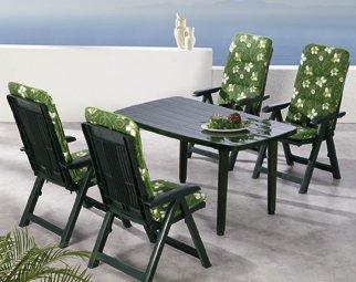 Beauty.Scouts 9tlg Gartengarnitur Sitzgruppe Algarve inkl. Verschieden Farbenden Sitzgarnituren Grün günstig kaufen