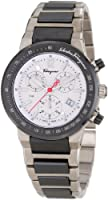 Salvatore Ferragamo Men's F54MCQ78901 S789 F-80 Chronograph Tachymeter Titanium Watch by Salvatore Ferragamo