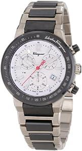Salvatore Ferragamo Men's F54MCQ78901 S789 F-80 Chronograph Tachymeter Titanium Watch by Salvatore Ferragamo