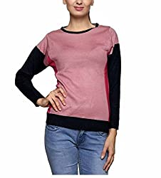 Leebonee Women's Acrylic Full Sleeve Super Dark Denim Sweater