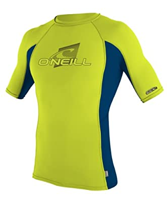O'Neill Wetsuits Youth Skins Short Sleeve Crew Rash Guard Shirt