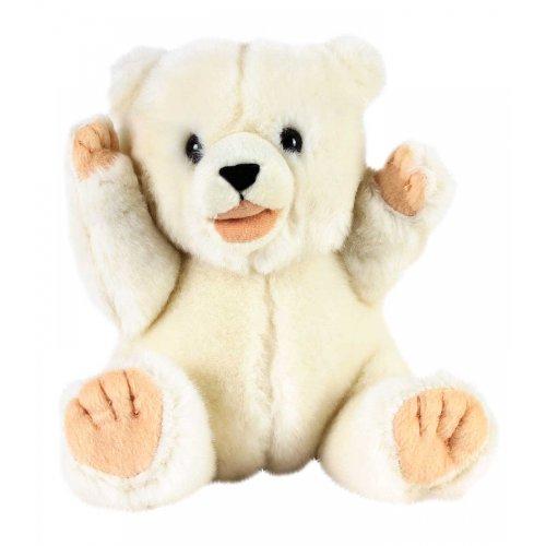 7in Baby Polar Bear Playful Pose Plush Animal