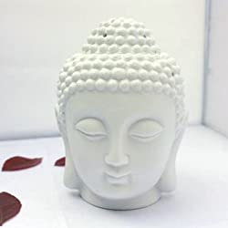 Crazy Sutra Ceramic White Buddha Diffuser with 1FREE teallight