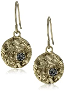 Kenneth Cole New York Textured Gold-Tone Drop Earrings