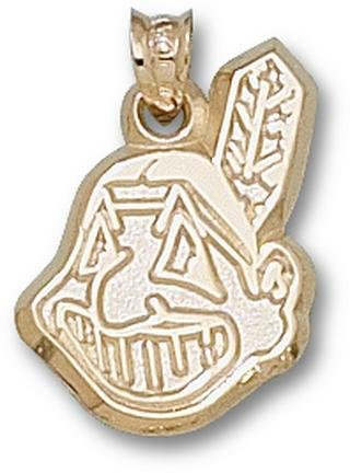 Cleveland Indians Chief Wahoo 3 4 Pendant - 14KT Gold Jewelry by Logo Art