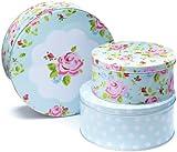 """Cooksmart Kuchen- / Keksdosen """"Vintage Floral"""" 3-teiliges Set"""