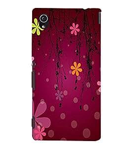 printtech Flower Cool Pattern Back Case Cover for Sony Xperia M4 Aqua::Sony Xperia M4 Aqua Dual