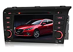 See Pumpkin 7 inch Android 4.4 For Mazda 3 2004-2009 In Dash HD Touch Screen Double Din Car DVD Player GPS Navigation Stereo FM/AM Radio Support Bluetooth/SD/USB/1080P/OBD2/DVR/3G/Wifi Details