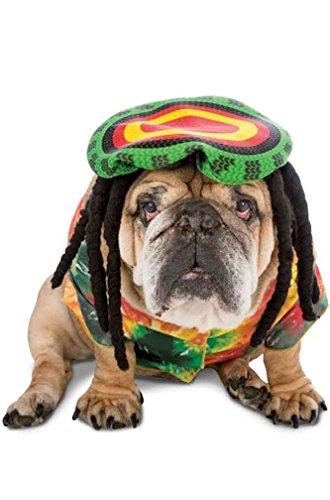 [8eighteen Rasta Reggae Island Flavor Dog Pet Costume] (Hot Dog Baby Costumes)