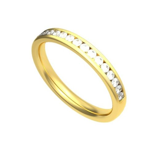 0.30ct F/VS1 Diamond Half Eternity Ring for Women with Round Brilliant cut diamonds in 18ct Yellow Gold