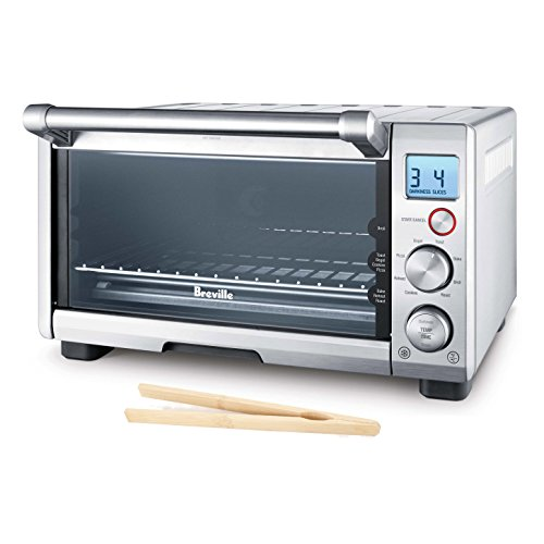 Breville Brushed Stainless Steel Smart Compact Toaster Oven with Free Bamboo Toast Tongs (Breville Toaster Oven Compact compare prices)