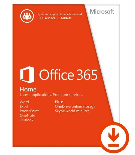 Microsoft Office 365 Home 1yr Subscription [Download]