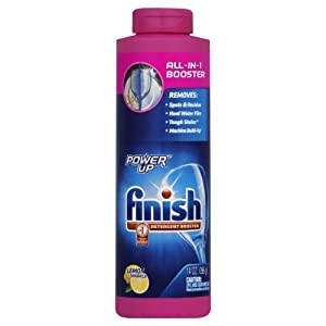 Finish Power Up Rinse Aid, Dishwasher Booster Agent, 14 Ounce