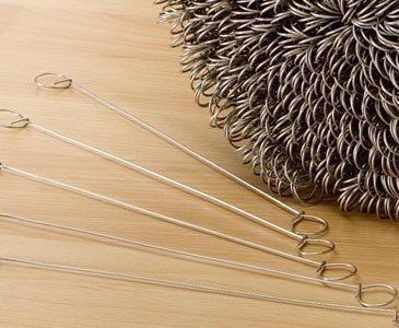 Bindedraht verzinkt für Sichtschutz Befestigung, Länge 18cm, Set 100 Stück im Pack von bambus-discount.com - Gartenmöbel von Du und Dein Garten