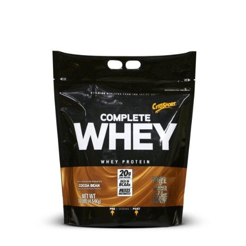 CytoSport Complete Whey Protein, Cocoa Bean, 10-Pound Tub
