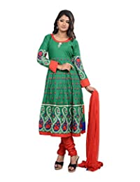 Sareeshut Women's Cotton Regular Fit Anarkali Suits