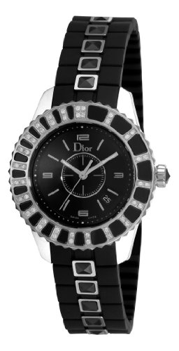 Christian Dior Women's CD113115R001 Christal Diamond Black Dial Watch