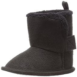 Gerber Cozy Faux Suede Winter Boot (Infant),Black,1 M US Infant