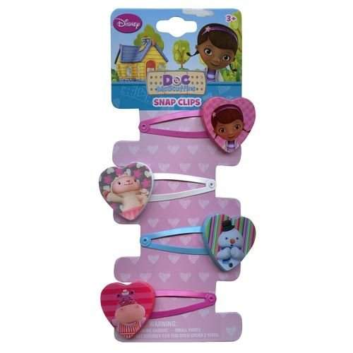 Disney Doc McStuffins Snap On Barrettes - Girls Hair Accessory