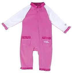 UV SKINZ UPF50+ Baby Girl Sun & Swim Suit-Bubblegum Pink/White-12/18m