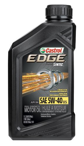 Castrol 06249 EDGE 5W-40 SPT Synthetic Motor Oil - 1 Quart Bottle, (Pack of 6) (Castrol Synthetic Engine Oil compare prices)