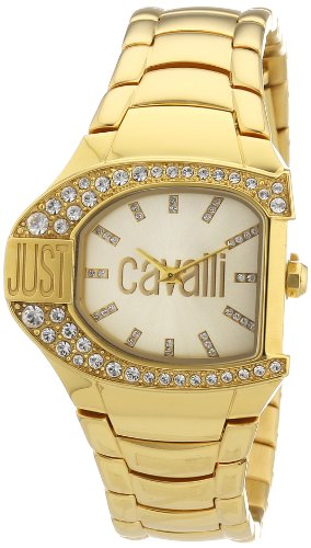 Just Cavalli Women's R7253160501 Logo Yellow Gold Ion-Plated Coated Stainless Steel Swarovski Crystal Watch