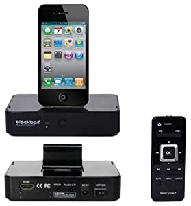 BlackBox MLG-6025DK Digital AV Dock via HDMI for Apple iPod iPhone iPad (Black)