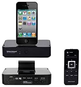 BlackBox MLG-6025DK Digital AV Dock via HDMI for Apple iPod iPhone iPad (Black)