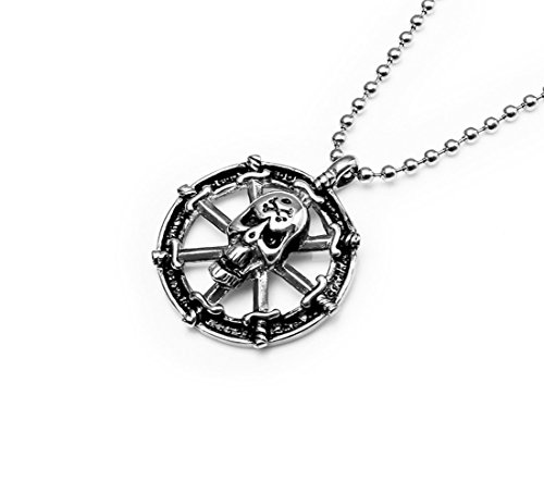 Iconic-Fashion-Jewelry-Eight-Swords-Skull-Stainless-Steel-Disc-Pendant-Necklace-for-Mens-Gift