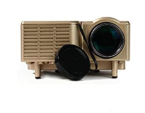 "Aketek Mini Multimedia Image System Home LED Digital Projector 60"" Cinema Theater, PC Laptop VGA Input USB UC30(SD / USB / AV / VGA /HDMI Port) (Gold) by Aketek"