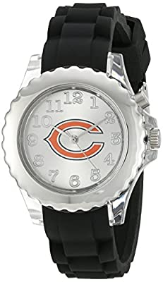 "Game Time Youth NFL-FLB-CHI ""Flash Black"" Chicago Bears Watch with Black Silicone Band"