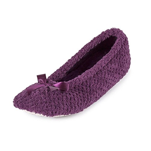 isotoner-ladies-popcorn-ballet-slippers-dark-purple-medium-uk-4-5