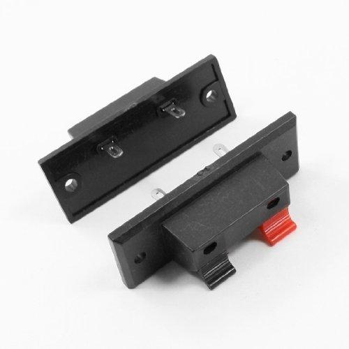 2 Stücke Hochfrequent 1 1 Schwarz Rot 2 way 2 Pins Lautsprecherterminal Teller WP2-2