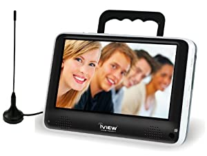 iView iVIEW-700PTV Portable 7-Inch Digital LCD TV, Black