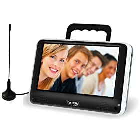 iView iVIEW-700PTV Portable 7-Inch Digital LCD TV, Black