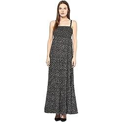 TAURUS WOMEN'S TIERED DRESS (CDR-1536-BLK-Small)