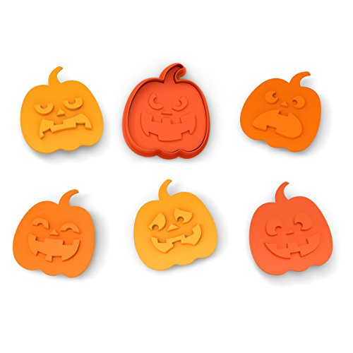 Fred & Friends SNACK-O-LANTERN Cookie Cutter/Stampers, Set of 6