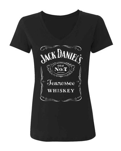 Jack Daniels Women's Daniel's Logo Tee Black Small (Jack Daniels Apparel For Women compare prices)