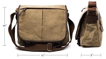 Simple military canvas messenger bag 2