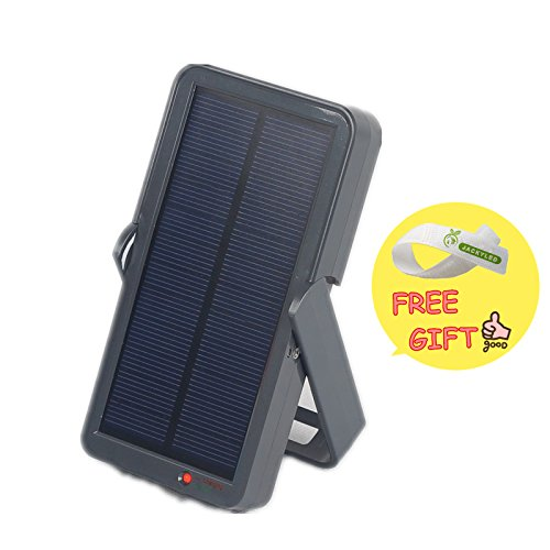 Jacky Led Multifunctional Portable Lightweight Durable Solar-Powered Charging Unit Solar Light,5V/2800Mah,Super Bright 1.5W Led Light & Charger For Cell Phones And Most Usb Powered Devices, Black + Free Gift