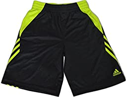 Adidas Climalite Athletic Shorts in Dark Gray and Safety Yellow (Small/8)