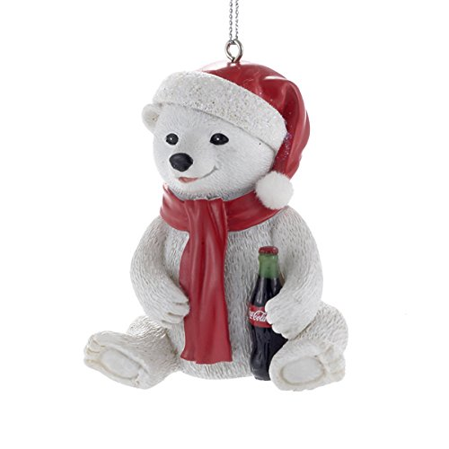 Kurt Adler Coca-Cola Resin Polar Bear Cub Ornament #CC2153