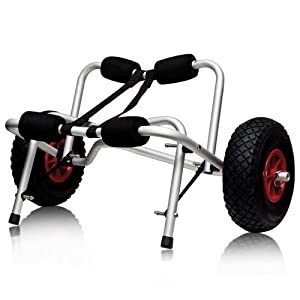 Buy Boat Kayak Canoe Carrier Dolly Trailer Tote Trolley Transport Cart Wheel New by Best Choice Products
