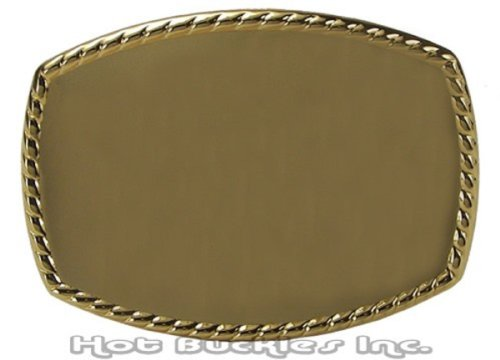 Plain Gold Oval Blank Western Belt Buckle